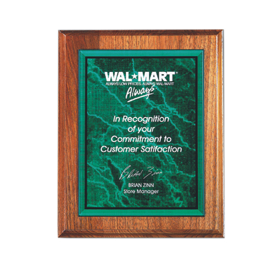 AME 064 - Marble Plaque Plate - Green - 5x7 - Click Image to Close