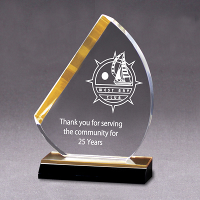 AME 083 - Sail Award - Gold Mirrored Base - 5x8 - Click Image to Close