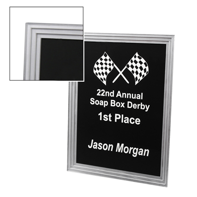 AUS 027 - Triple Edge Plaque - Black - 7x9 - Click Image to Close