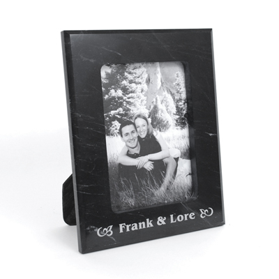 MPA 019 - Black Marble Photo Frame - 5x7 - Click Image to Close