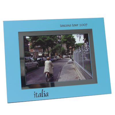 NTW 160 - ColorCoat Photo Frame - Blue - 5x7 - Click Image to Close